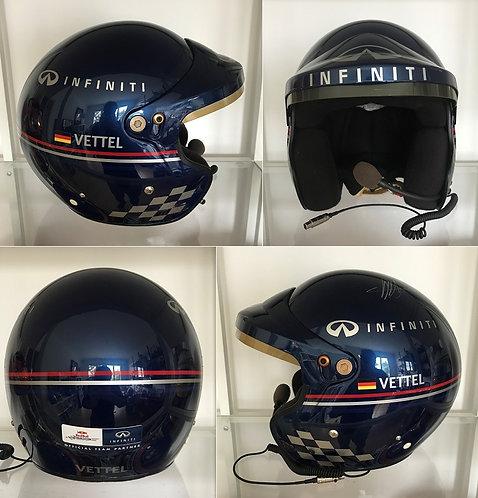 Original helmet 2013 Sebastian Vettel Infiniti Red Bull Signed