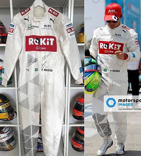 Race suit 2019-20 Felipe Massa ROKit Venturi FE Riyad + Chili Signed + COA