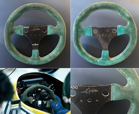 Race steering wheel 1984 Jacques Laffite Williams FW09 Signed