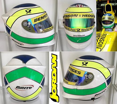 Race helmet 2002 Giancarlo Fisichella Jordan Honda Italian GP Signed