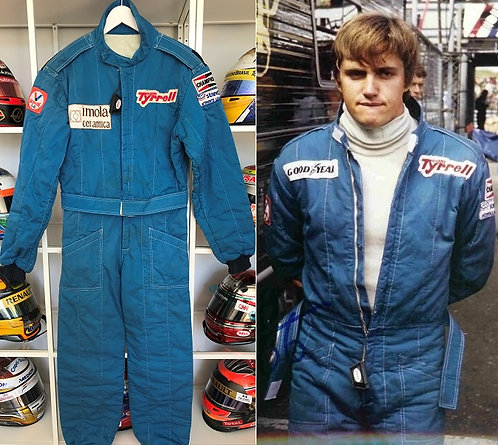 Race suit 1981 Eddie Cheever Team Tyrrell F1 rare