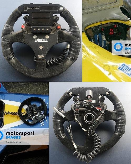 Race steering wheel 2004 World Series by Nissan Dallara Renault Sport