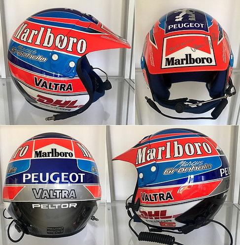 Race helmet 2003 Marcus Grönholm WRC Marlboro Peugeot Signed