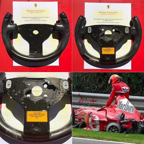 Original steering wheel Michael Schumacher Ferrari 2004 test Monza + COA