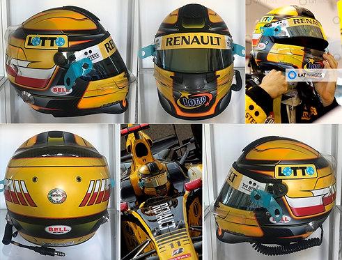 Race helmet Bell HP3 Carbon 2010 Robert Kubica Renault Abu Dhabi