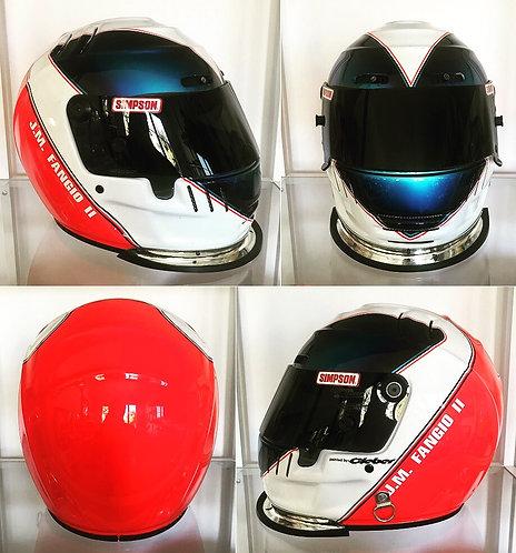 Original Simpson helmet 2000 Juan Fangio II by Cleber