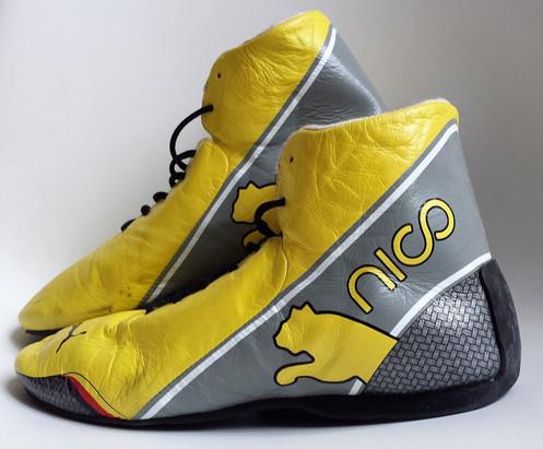 56669ed5632 Race shoes 2012 Nico Rosberg Mercedes AMG Signed