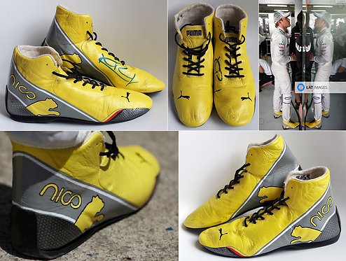Race shoes 2012 Nico Rosberg Mercedes AMG Signed