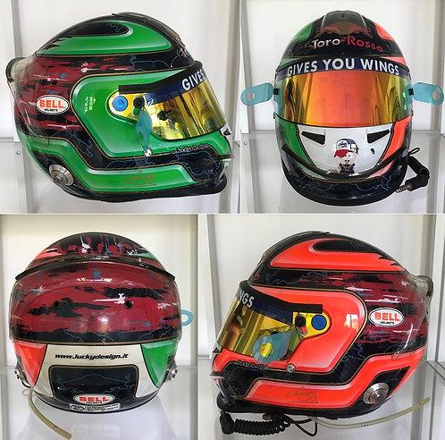 Race helmet Bell HP3 Vitantonio Liuzzi Toro Rosso 2007 Italian GP Full radio