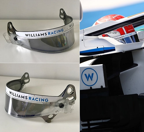 Race visor 2020 George Russell Williams Racing
