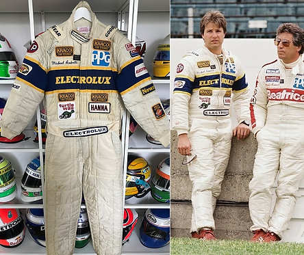 Race suit 1985 Michael Andretti Indy CART Kraco Racing Signed