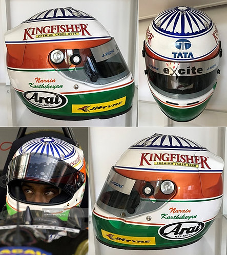 Race helmet 2002 Narain Karthikeyan World Series by Nissan