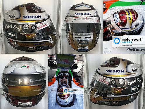 Race helmet 2009 Adrian Sutil Brazilian GP Force India