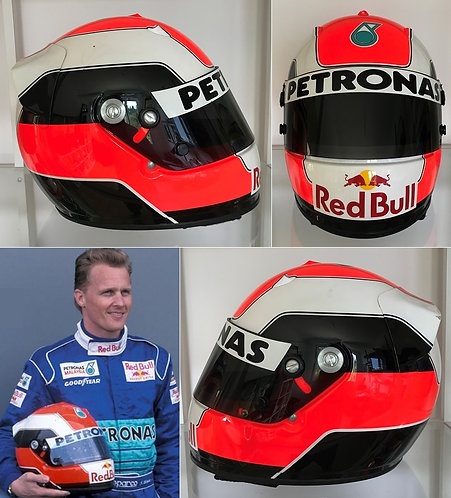 Race helmet 1998 Johnny Herbert Red Bull Sauber Petronas