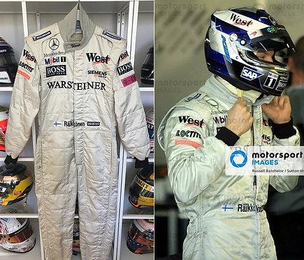 Race suit 2002 Kimi Räikkönen West McLaren Mercedes