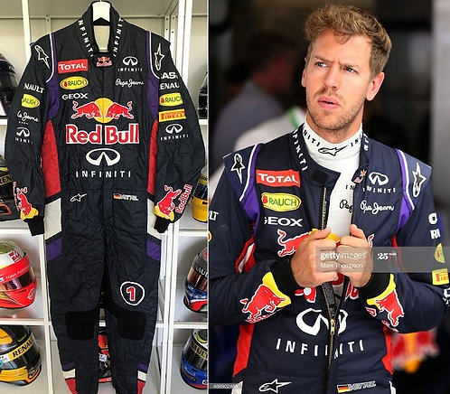 Race suit 2014 Sebastian Vettel Infiniti Red Bull Racing