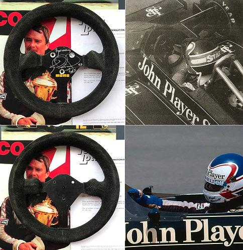 Race steering wheel 1984 Nigel Mansell Lotus Dutch GP 3rd Signed + COA