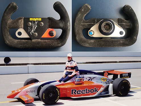Race steering wheel 1998 Davey Hamilton Indy IRL Signed