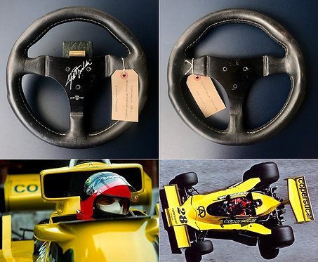 Race steering wheel 1977 Emerson Fittipaldi Copersucar Signed + LOA