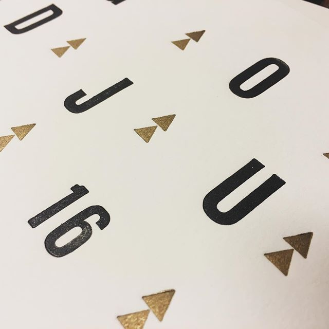 Merry Christmas 16 in Black and Gold  #letterpress #letterpre