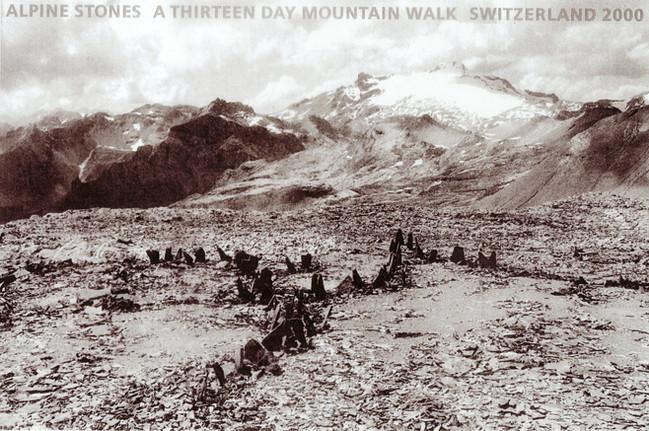 richard long walk in switzerland