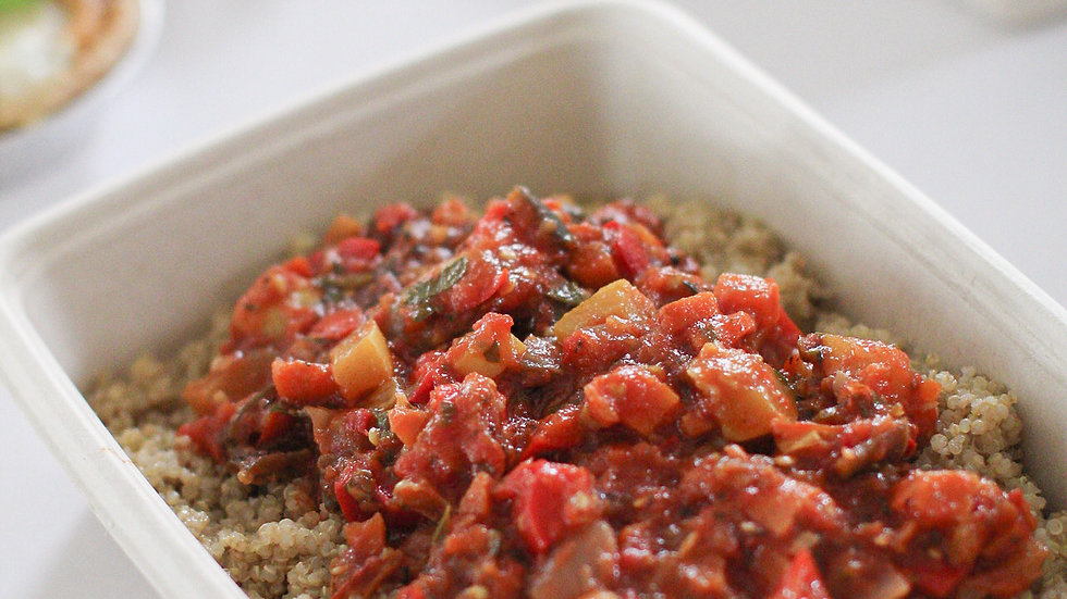 Provencal Ratatouille over Organic Quinoa