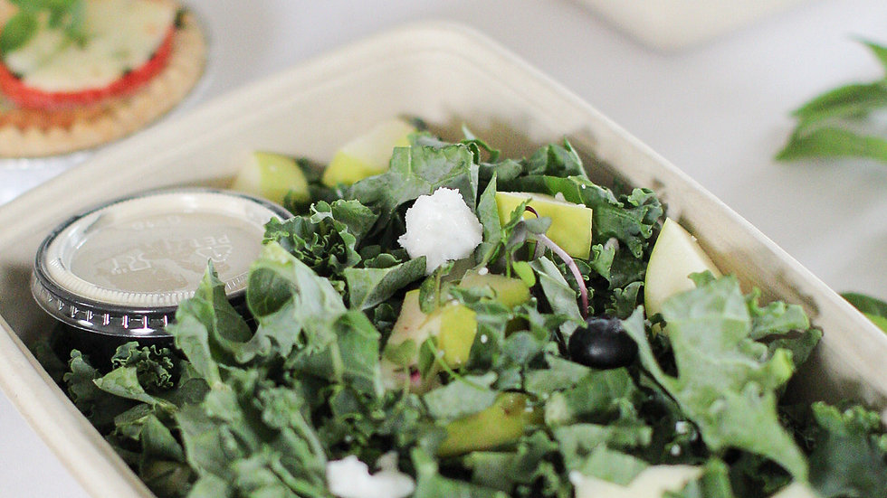 Power Kale Salad with Tahini Lemon Dressing