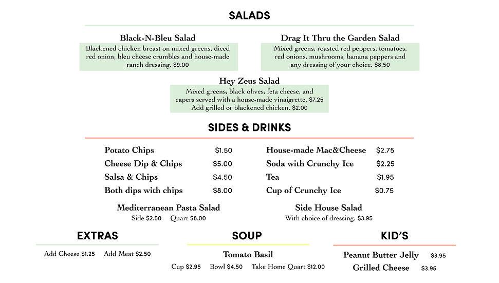 TJ's Salads, Sides & Drinks