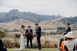 Wanaka wedding ceremony