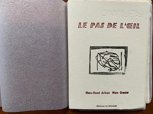 Le Pas de l'oeil Marc-Henri Arfeux