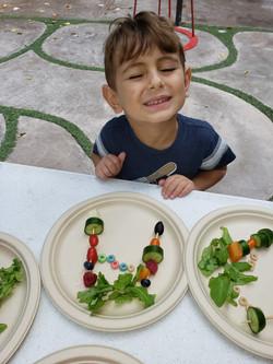 Sukkot - making edible Sukka