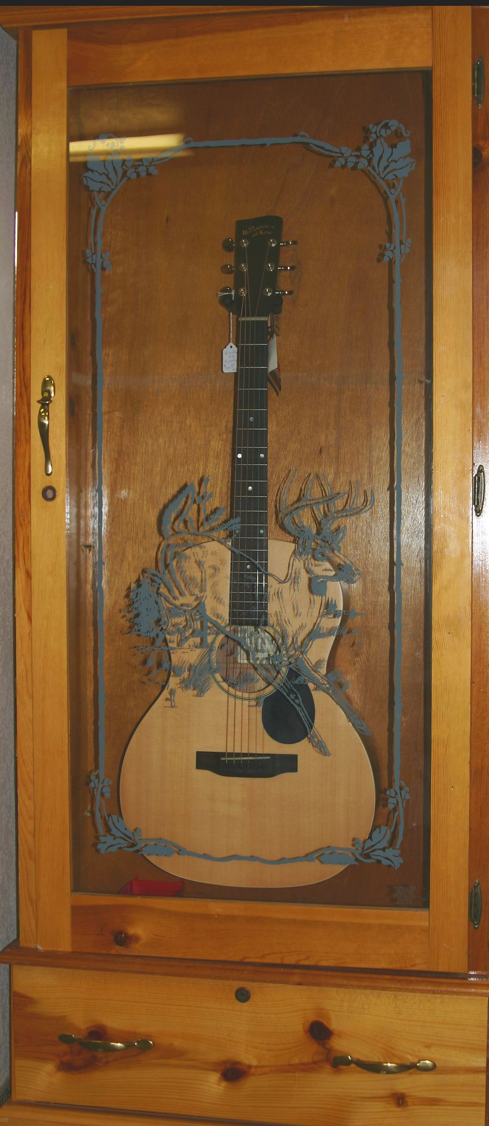 OOO 12 fret Recording King acoustic guitar