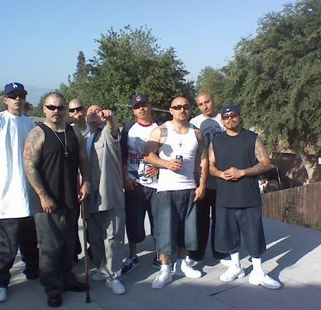 Lil Sneaks with some of the homies Doble Filo, Danny Boy Promotions