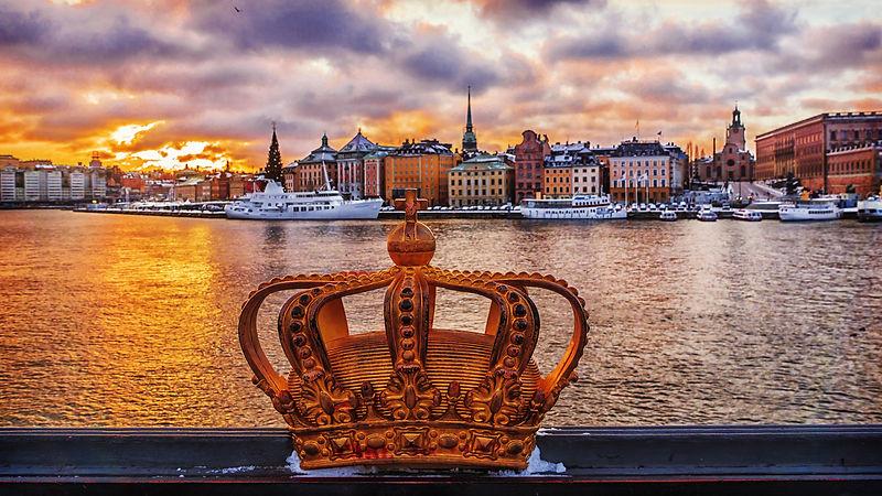 Winter Stockholm at sunset, Sweden.jpg