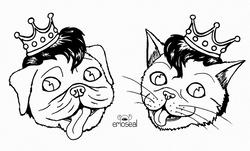 Stray Cat/Pug