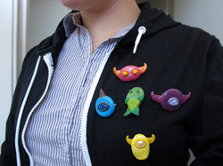 Monster Brooches