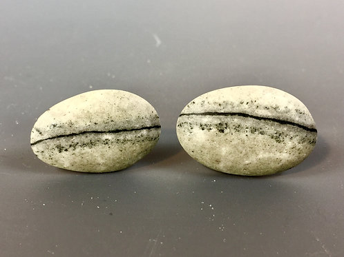 "Stone Cufflinks, ""Reptile's Eye"""