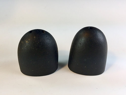 Salt & Pepper Shakers (Black Basalt Stone) Maine Crafted