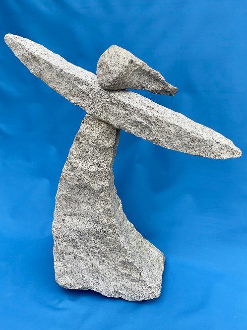 Gray Granite Angel