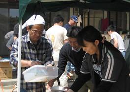 岩手県山田町へ物資支援、炊き出しボランティア