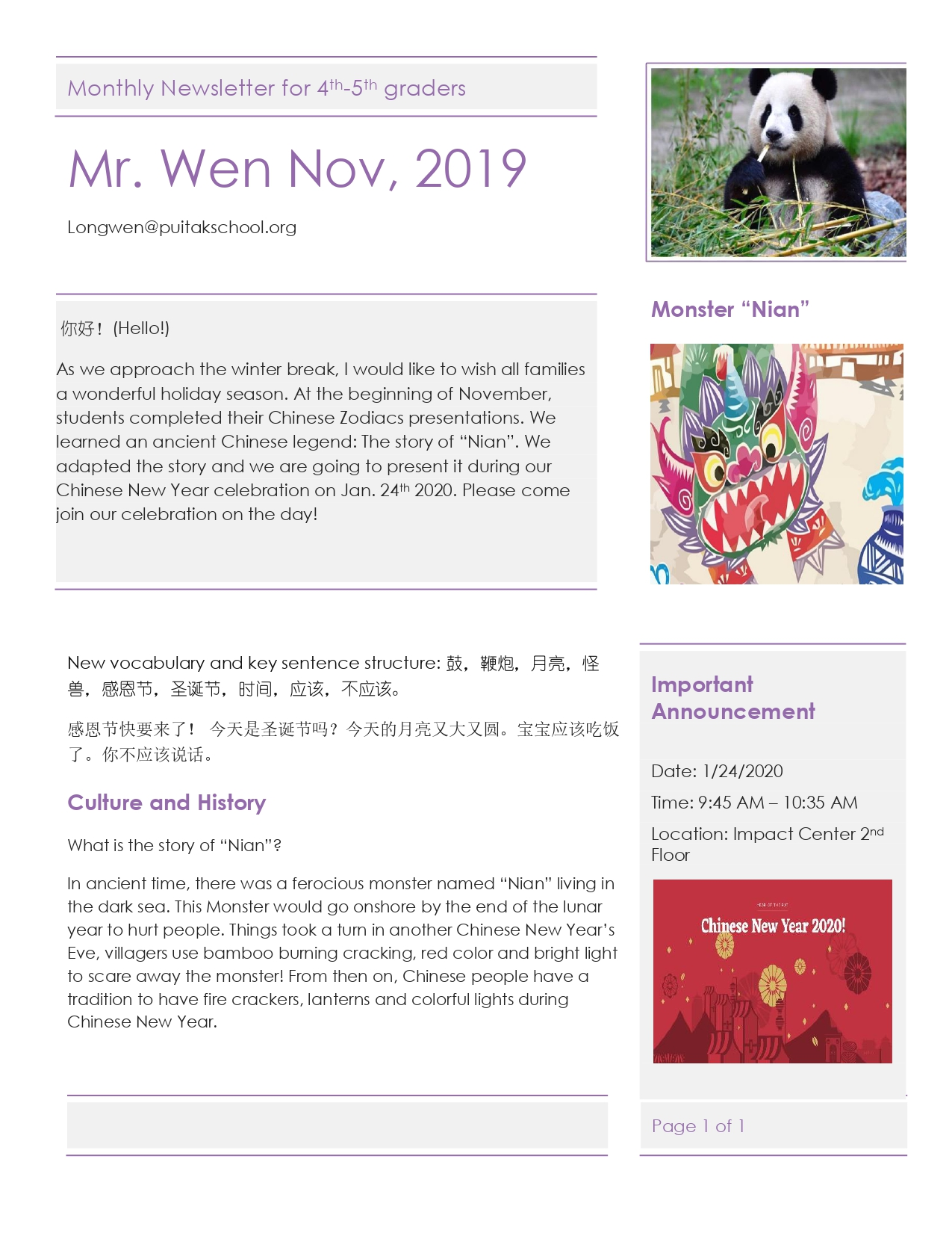 JackNewsletterNovember2019 for 4th-5th g