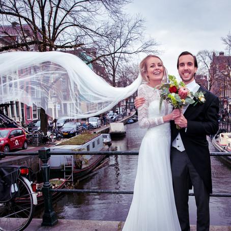 Huwelijksreportage in Amsterdam