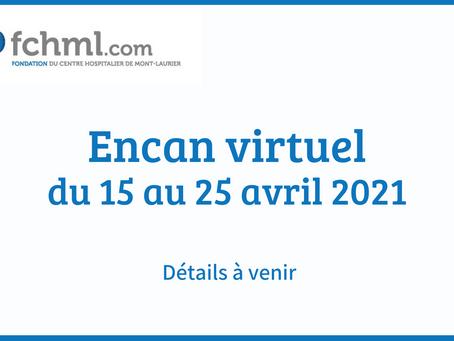 Encan virtuel - du 15 au 25 avril 2021