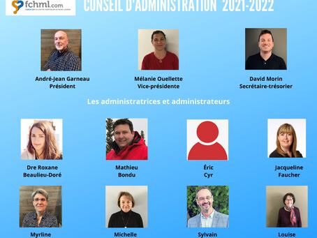 Conseil d'administration 2021-2022