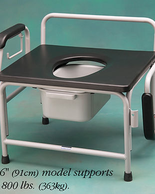 Heavy Duty Bariatric Drop Arm Commode NC