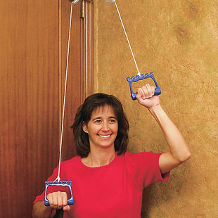 Exercise Pulley With Extended Metal Brac