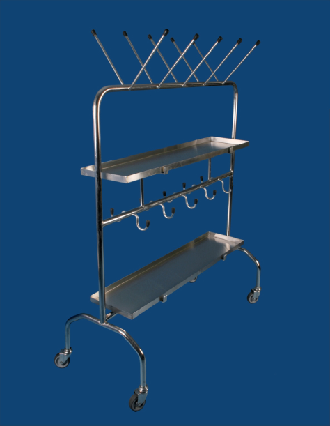 MOBILE BEDPAN AND URINAL RACK