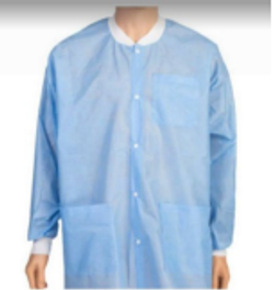 Disposable Gown Button-up Long