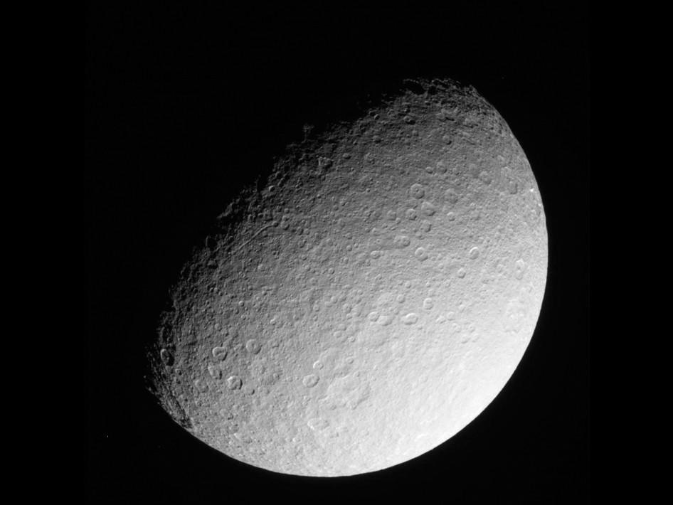 RHEA, as viewed by Cassini, Image NASA JPL