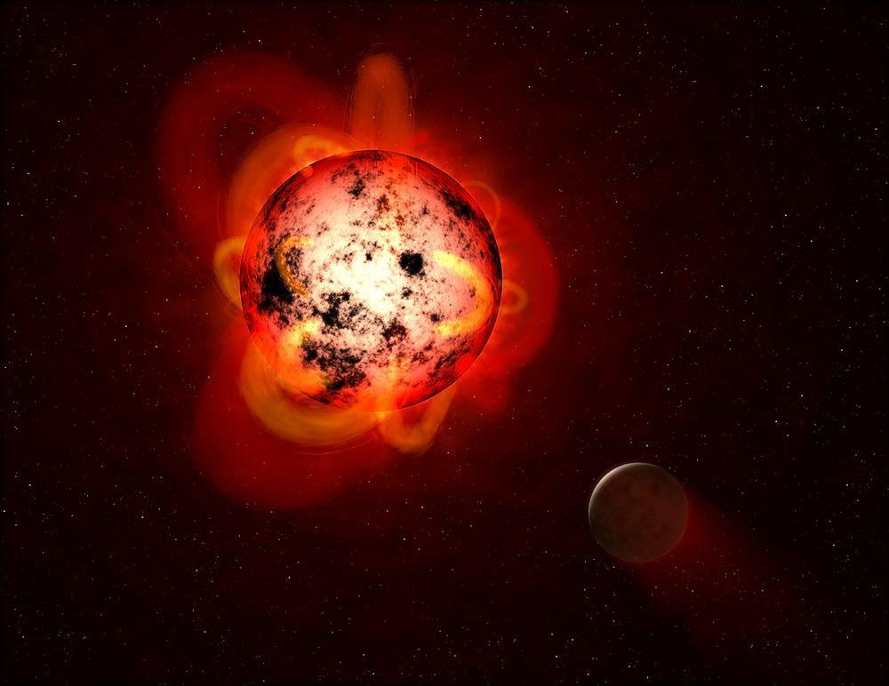 Illustration of Red Dwarf Credit: NASA/ESA/G. Bacon (STScI)